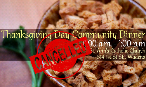 Cancelled - Community Thanksgiving Meal